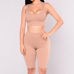 Matching fashion nova outfit
